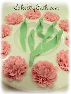 Carnation sugar paste tutorial