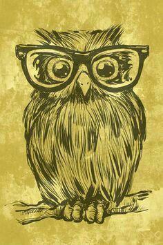 Owl with Eyeglasses.