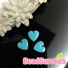 CH-EX-01005SB  Puffy Heart sky blue  6 pcs by Beadsupplies on Etsy (Craft Supplies & Tools, Jewelry & Beading Supplies, Charms, supply, brass, beadsupplies, finding, beads, findings, tag, for cabochons, metal, heart, sky blue)
