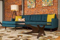 bold, modern, comfortable living room