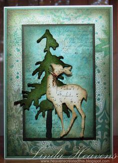Tim Holtz dies sizzix Christmas card