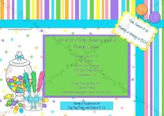 Sweet Treat Candy Themed Baby Shower Invitation by RazzberryMomma, $15.00