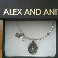 Alex and Ani bracelet Silver Guardian of Peace. Comes with box in perfect condition.  No card. Worn a few times. Alex & Ani Jewelry Bracelets