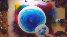 Watch me painting spacescapes Space Painting, Watch, Bracelet Watch, Clocks, Wrist Watches