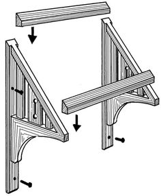 how to make a wood awning
