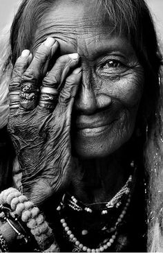 Amazing portrait of an Indian woman.