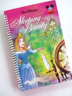 SLEEPING BEAUTY Journal Spiral Notebook Book  Recycled Upcycled PRINCESS