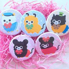 Disney Alpaca Buttons