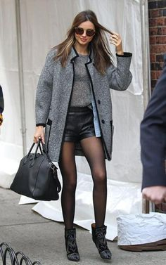 leather shorts outfit - Google Search