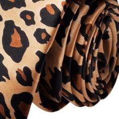 "Fashion Leopard Spotted Print Skinny 2"" Necktie Tie, Gift Idea"