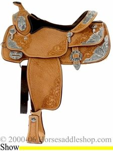 "16"" Western Pleasure Show Saddle by Billy Cook bi 9017... this is just pretty"