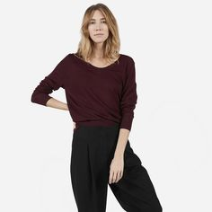 The Luxe Sweater U-Neck - Everlane