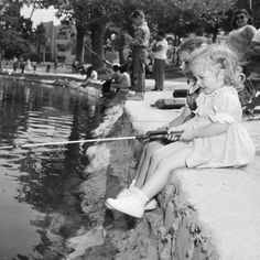 CENTRAL L.A. | ECHO PARK:  Fishing in Echo Park, 1958.