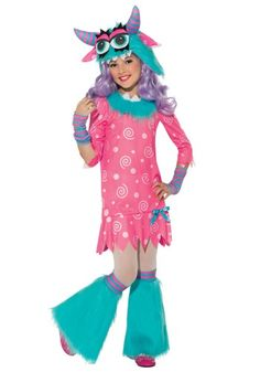 Girls Bedtime Monster Halloween Costume