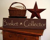 """""""Basket Collector"""" Sign on Etsy"""