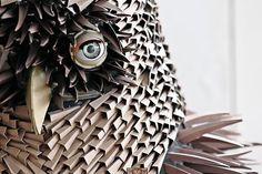 Folded paper owl by Irving Harper