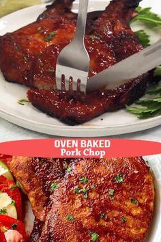Pork Chop Steak Recipe, Pork Chop Marinade Baked, Chopped Steak Recipes, Pork Chop Sauce, Roast Recipes, Pork Chop Recipes, Cooking Recipes, Baked Pork Steaks Oven, Kitchen