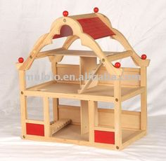 Creative Playthings Wooden Doll House & Furniture