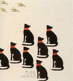 Children's book illustration by Koloman Moser
