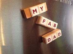 Upcycled fridge magnet  Recycled board games  MY FAB by FuNkTjUnK, £5.00