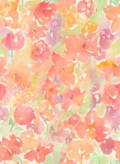 Watercolor Flowers, Floral Watercolor Pattern - Clip Art