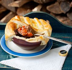 Beef and Guinness Pie with Mushrooms
