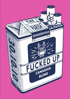 Fucked up concert poster by Peter Otoole -- dig the object oriented design
