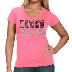 Oregon Ducks Ladies Charm V-Neck T-Shirt - Pink