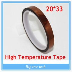 [Visit to Buy] 20mm x 33mm for 3D Printer Heat Tape Resistant High Temperature Polyimide Adhesive Tape #Advertisement