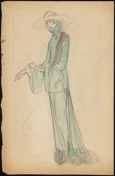 Sketch by Paul Poiret 1922