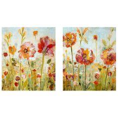 Ballard Designs Poppy Breeze Art ($299) ❤ liked on Polyvore featuring home, home decor, wall art, poppy wall art, textured wall art en ballard designs