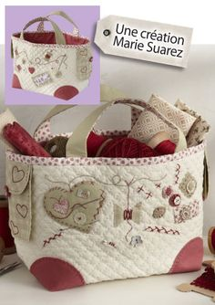 Adorable quilted basket