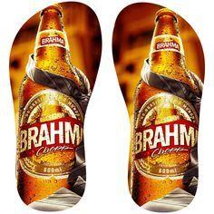 Estampa para chinelo Brahma 001027 Brahma, 30, Sandal, Beagle, Frozen, Notebook, Chocolate, Nike, Fabric Flip Flops