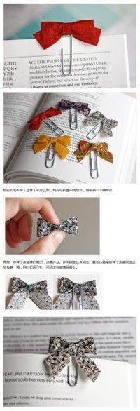 Simple bow bookmark