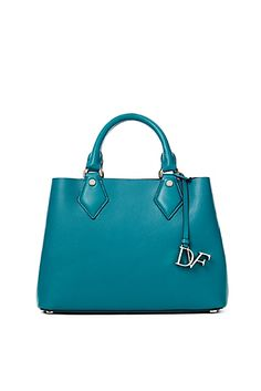 DVF Voyage Small Leather Carryall Tote
