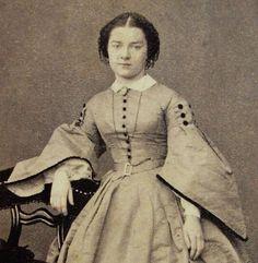 Antique CDV Photo of Young Woman Wearing Stunning Hoop Dress Stuttgart Germany | eBay