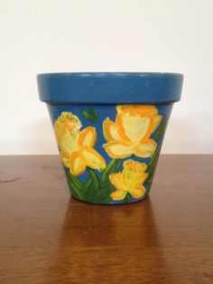 Hey, I found this really awesome Etsy listing at https://www.etsy.com/listing/176101904/decorative-flower-pot-hand-painted-4