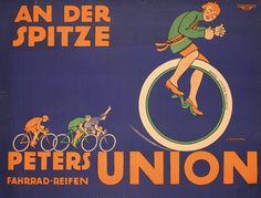 Original Union Bicycle Tire Poster Plakat