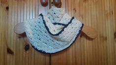 Shell lace crochet infinity scarf