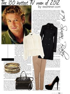 """The 100 hottest TV men of 2012 by examiner.com - #79, Simon Baker [The Mentalist]"" by miky94 ❤ liked on Polyvore"