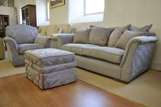 Fabric Sofas & Suites : Jasmine 2 Seater Sofa Armchair and Footstool