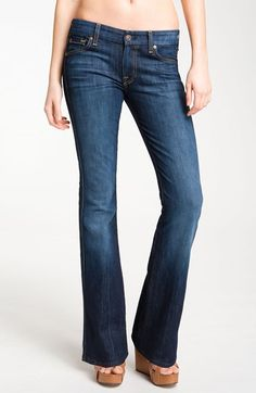 7+For+All+Mankind®+Stretch+Denim+Bootcut+Jeans+(Nouveau+New+York)+available+at+#Nordstrom