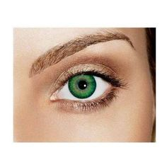 Sea Green Non Prescription Colored Contacts Freshlook Dimensions ❤... ❤ liked on Polyvore featuring eyes
