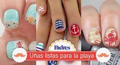 Te damos algunas ideas para decorar tus uñas de forma original y puedas disfrutar de unas lindas vacaciones en la playa.