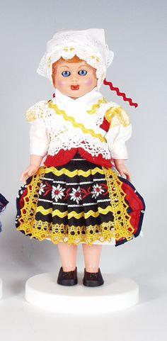 Panenky - 17 cm - mrkací | Detva - 17cm Slovensko | Krojované panenky