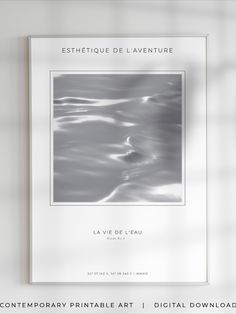 Esthétique de l'aventure. The Aesthetics of Adventure. This is a new collection for modern home decor, where wind meet waves in an eternal improvisation. These are subtle glare, sudden flashes and bizarre bends. It is an abstraction of neutral colors and the muted tones of Natural Fractal Patterns. Fractal Patterns in Nature and Art Are Aesthetically Pleasing and Stress-Reducing. #NeutralAbstract #MutedColors #NaturalPatterns #ExibitionPoster #NeutralColor #MinimalistDecor #MuseumArt… Fractal Patterns, Patterns In Nature, Wave Art, Ocean Photography, Fashion Colours, Modern Wall Art, Abstract Print, Color Trends, Neutral Colors