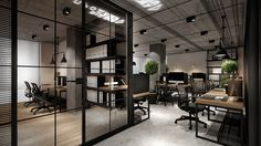 Industrial office design, office space design, workplace design, office i. Corporate Office Design, Office Space Design, Workplace Design, Office Interior Design, Office Interiors, Office Designs, Look Office, Open Office, Office Plan