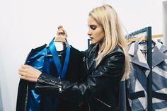 Leather Jacket, Model, Jackets, Fashion, Studded Leather Jacket, Down Jackets, Moda, Leather Jackets