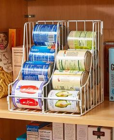 Kitchen Soda Cans Vegetable or Soup Can or Canned Goods Double Pantry Organizer Only 15 In Stock Order Today! Product Description: Store and organize your canned goods in the same amount of shelf space with this Double Pantry Can Organizer. Diy Kitchen Storage, Pantry Storage, Kitchen Pantry, Diy Storage, Food Storage, Kitchen Decor, Storage Ideas, Kitchen Ideas, Storage Solutions