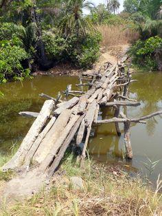 Makeshift Footbridge - The Gambia